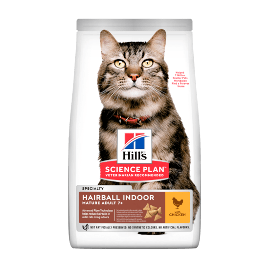 Casapets-Hill's-Science plan-feline-mature-hairball-indoor-poulet