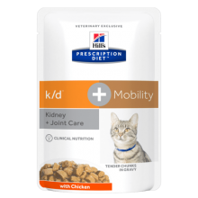 Hill's Prescription Diet k/d + mobility Féline sachet fraîcheur