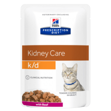 Hill's Prescription Diet k/d Feline sachet au Boeuf