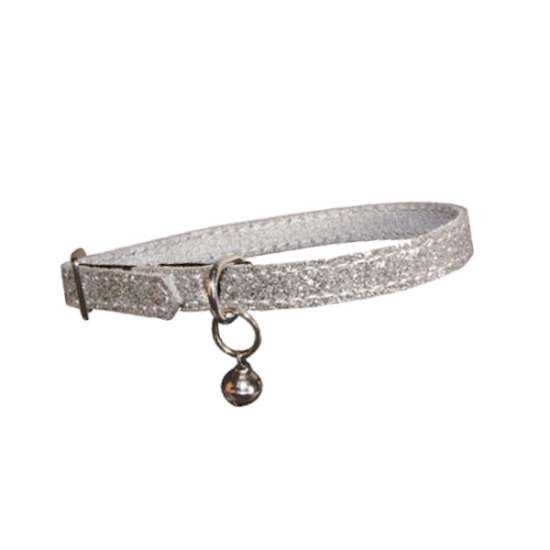 Casapets-Bobby-collier-chat-simili-pailleté-argent