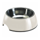 Casapets-Hunter-gamelle-melamine-inox-blanc