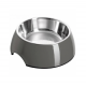Casapets-Hunter-gamelle-melamine-inox-gris