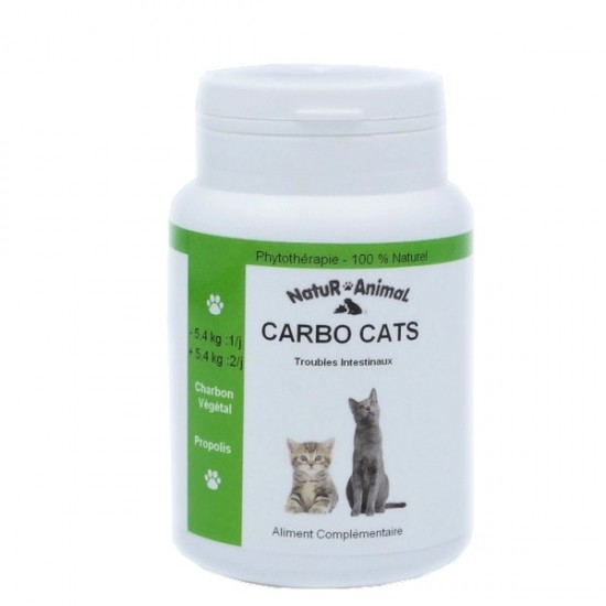Casapets-NaturAnimal-carbo-cat-30gélules